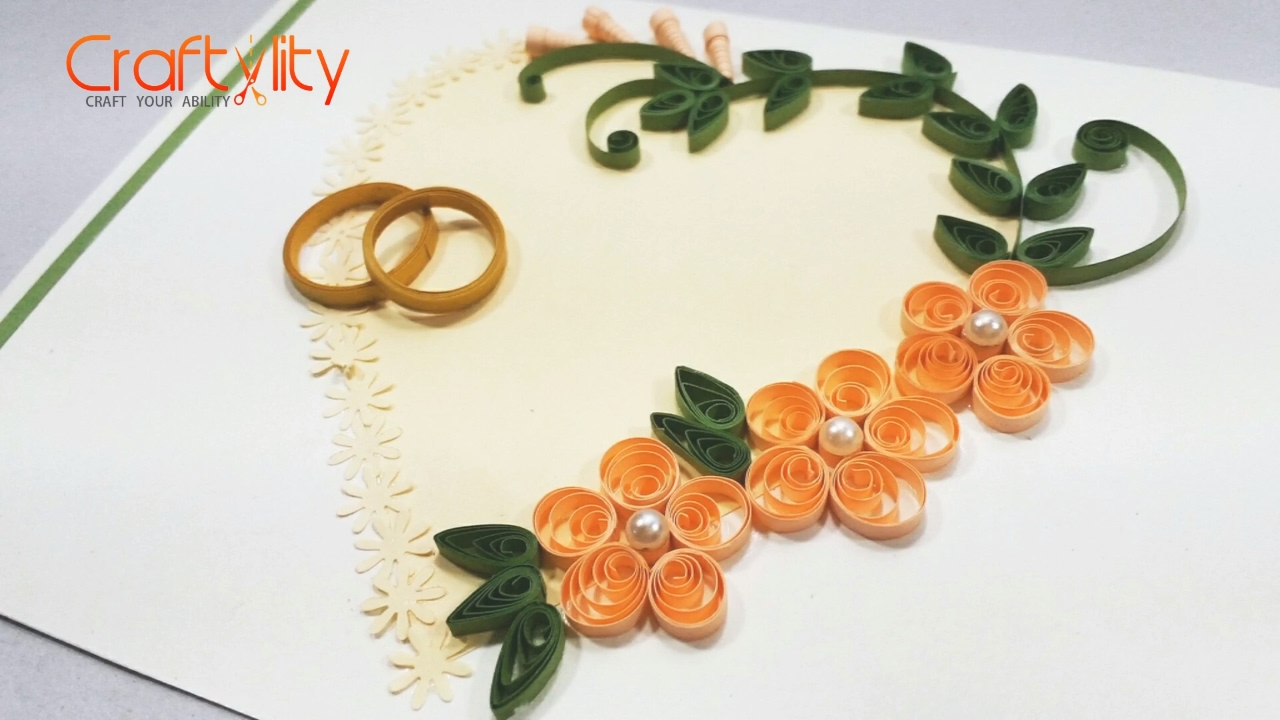 DIY Paper Quilling Wedding Cards Tutorial How To Make Card Ideas
