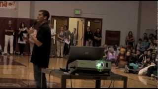 Yellow Ribbion Suicide Prevention, Stan Collins presents at School-wide Assembly 2012