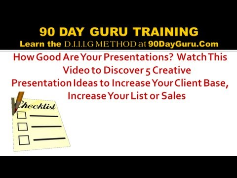 5 Creative Presentation Ideas to Increase Sales by 90 Day Guru