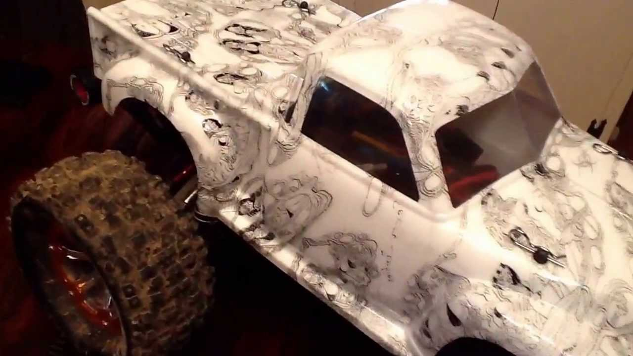 Rc Stampede Hydro Dipped Youtube