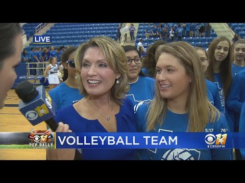 CBS 11 Pep Rally: Nolan Catholic High School Volleyball Team And A Surprise Guest