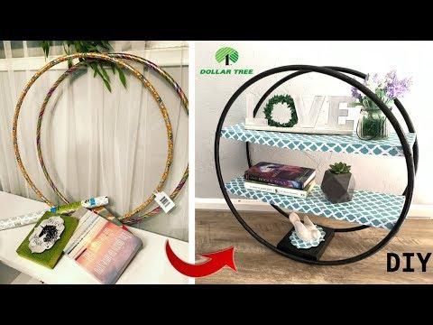 Round standing shelf/ Dollar Tree DIY