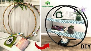 Round standing shelf/ Dollar Tree DIY
