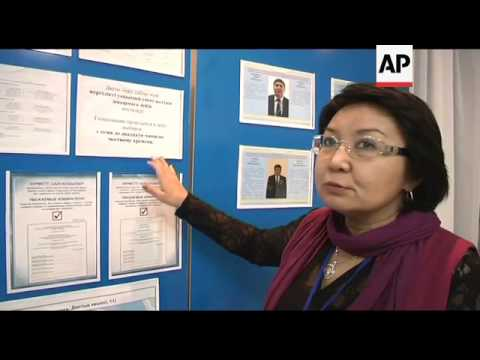 Kazakhs prepare for election, which gives limited chances to opposition parties