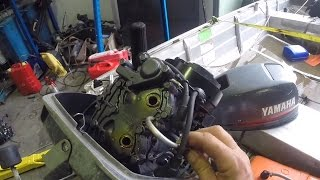 Unseizing a seized outboard motor
