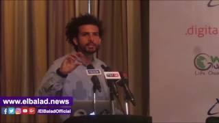 عمر سمرة يطلق مشروع 'فضائك' لطلبة المدارس والجامعات.. فيديو وصور