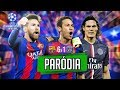 ♫ 6-1 A REMONTADA DO BARCELONA NO PSG | PARÓDIA CHAMPIONS LEAGUE ‹ RALPH +10 ›
