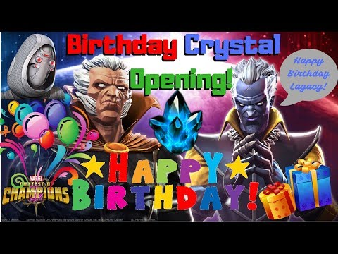 WOW Huge Birthday Crystal Opening! Featured 5* Crystal! W/BG! Ghost?- Marvel Contest of Champions