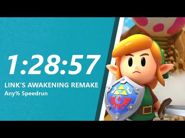 Link's Awakening Remake Any% Speedrun in 1:28:57