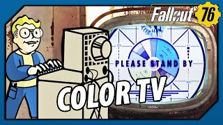 "FALLOUT 76 - THIS is why the ""Please Stand By"" & TV are in COLOR!"