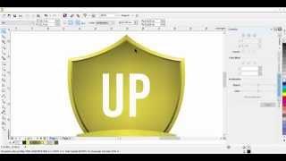 Tutorial Corel Draw Making Gold Shield Logo