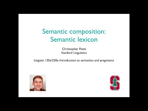 Linguist 130a - Semantic composition 2: Lexicon
