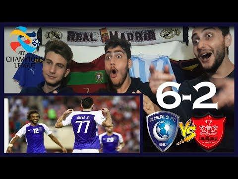 ردة فعلنا على مباراة الهلال وبيروزي 6-2(ذهاب وإياب)  عمر خريبين جلاد إيران يطير بالهلال للنهائي🔥💙