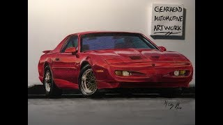 1991 Pontiac Firebird Trans Am - Timelapse Drawing