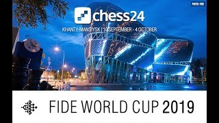 FIDE Chess World Cup 2019 - Round 3 - Game 1 - LIVE - Reupload