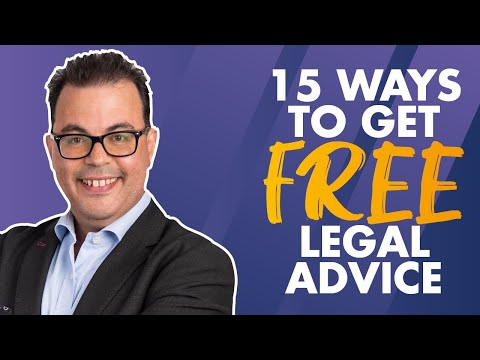 15 ways to get FREE legal advice