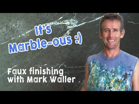 Faux Painting Marbling Over The Shoulder With Mark