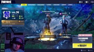 Fornite ~ Doing Playground Mode On A Live Stream