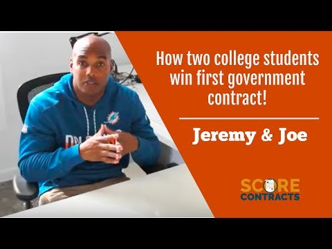 How 2 college students win first government contract!! Story of Jeremy & Joe!