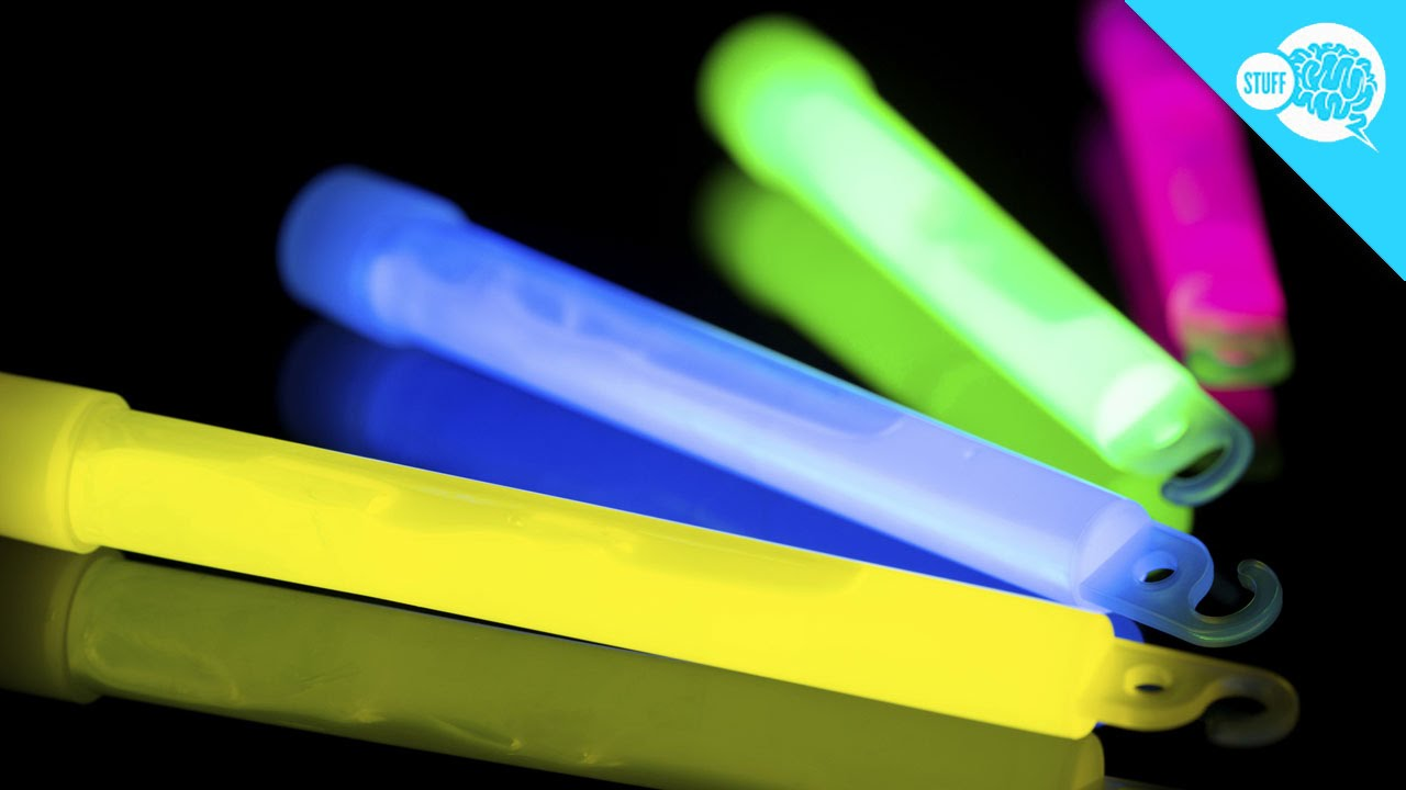 glow sticks light blue pieces