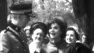 May 17, 1961 - Jacqueline Kennedy visits the Royal Canadian Mounted Police in Ottawa, Ontario