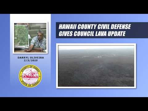 Hawaii County Civil Defense Gives Lava Update