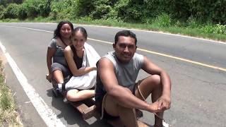 viajando sobre 4 baleros Street luge ARTESANAL EL SALVADOR  Ingenio Salvadoreño ys svl