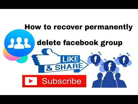 How to restore deleted groups and profiles on Facebook. । Facebook Tricks