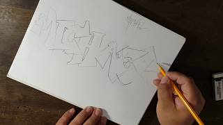 Drawing Names In Graffiti Style / Michael Layout / 2017 Video 2