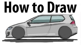 How to draw a Volkswagen Golf GTI - Sketch it quick!
