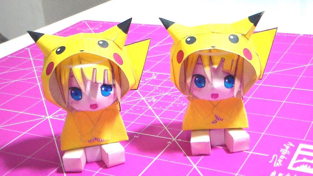 Papercraft Faça Você Mesmo - Papercraft Pikachu