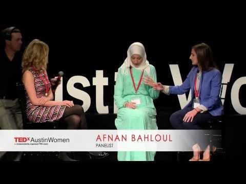 Jaime Horn, Afnan Bahloul and Becca Weinstein at TEDxAustinWomen