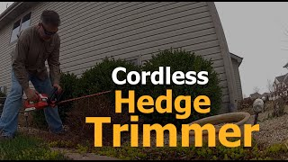 Black And Decker Cordless Hedge Trimmer Review