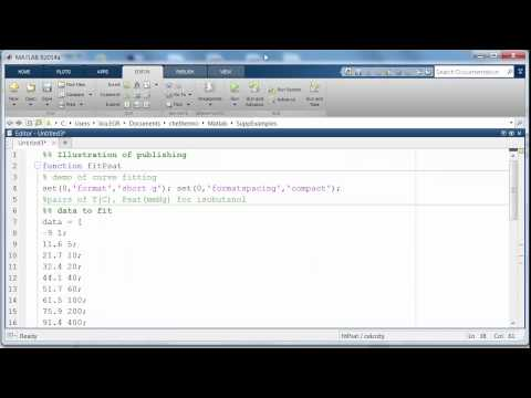 Publishing From Matlab To Html To Microsoft Word