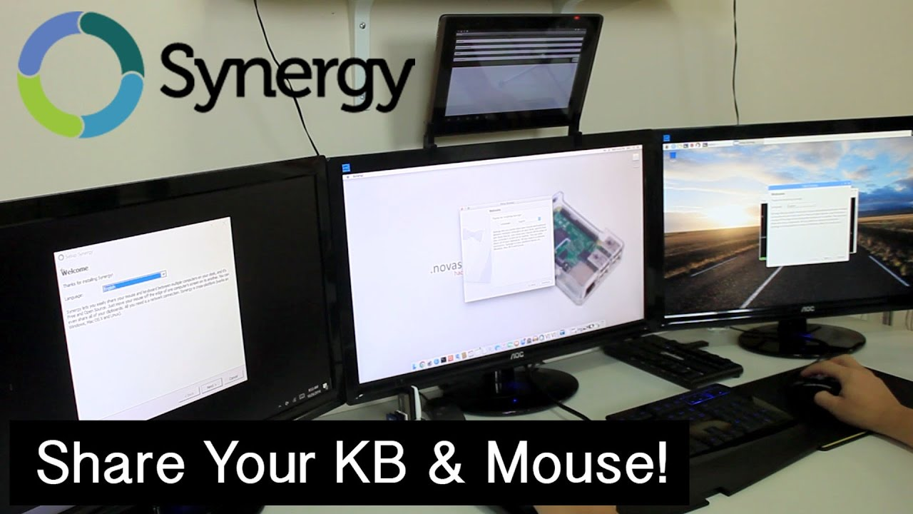 share mouse and keyboard between windows and linux