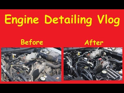 Engine Detail DIY Degrease Scrubbing Video + Buffing Polishing Detail