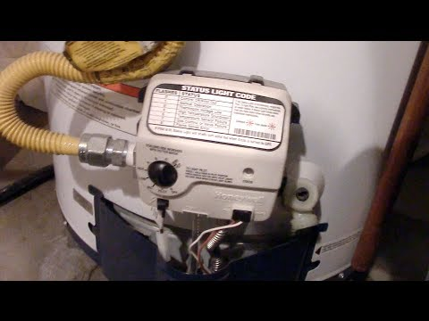 How to light a HONEYWELL water heater pilot