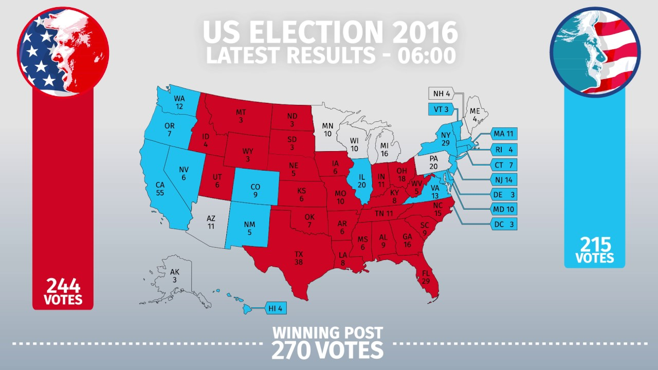 Us Election Presidential Results By State 06 00