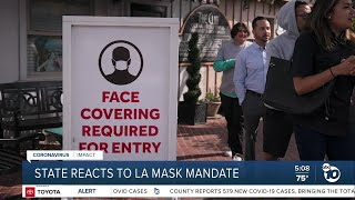 California reacts to Los Angeles mask mandate
