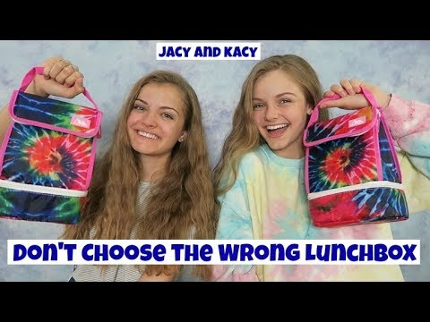 Don't Choose the Wrong Lunchbox Challenge ~ Jacy and Kacy