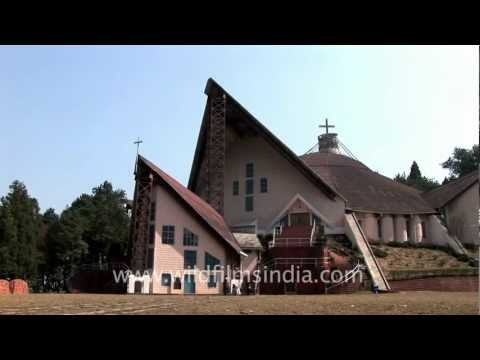 The oldest catholic cathedral in North East India, Kohima