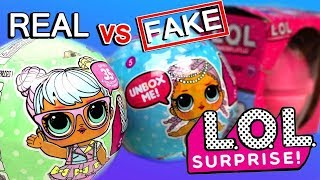 Fake Vs. Real | L.O.L. Surprise! | How To Spot A Fake Fake LOL Dolls Surprise