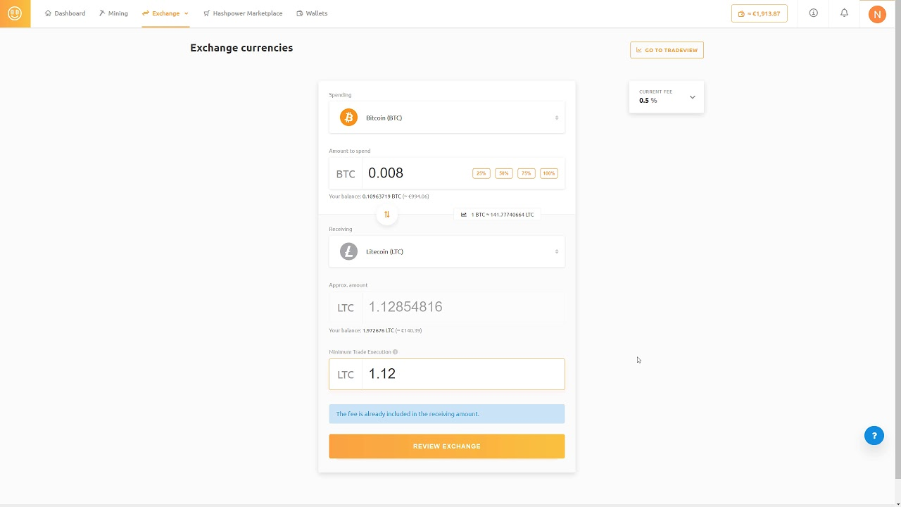 How to quickly trade crypto currencies at NiceHash? - User Guide