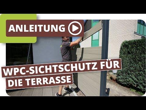 Extrem Sichtschutz für die Terrasse mit planeo WPC Zaunelementen - YouTube FL35