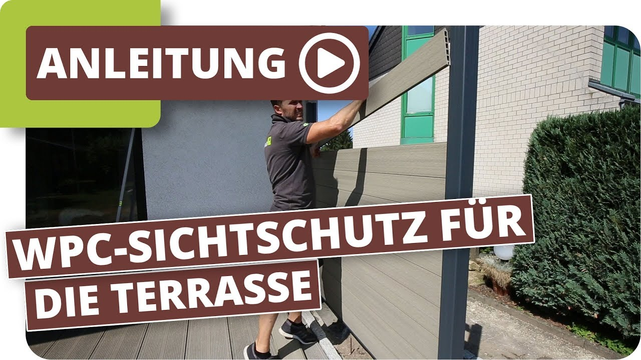 sichtschutz f r die terrasse mit planeo wpc zaunelementen youtube. Black Bedroom Furniture Sets. Home Design Ideas