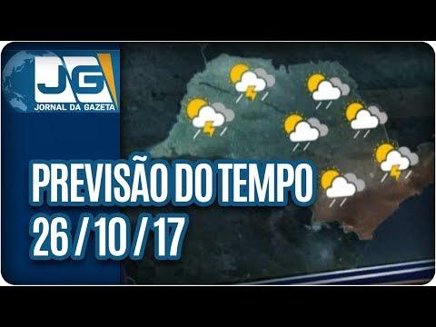 Previsão do Tempo - 26/10/2017