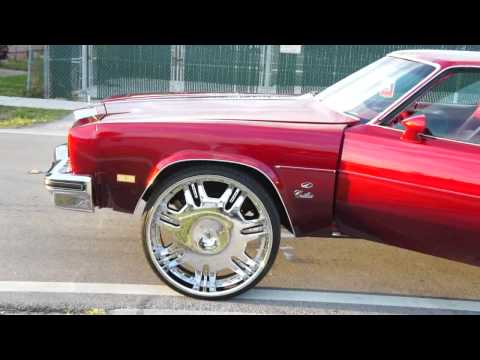 "CANDY RED CUTLASS ON 28"" LEXANI'S!!!"