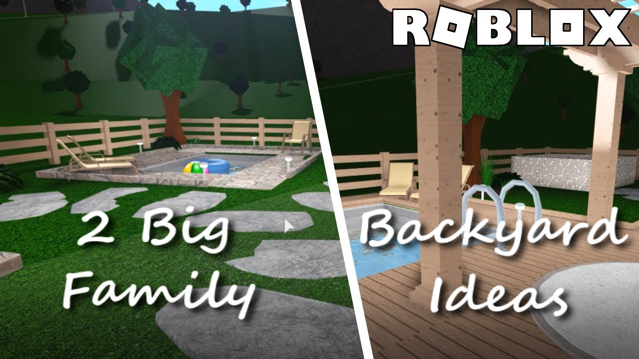 Bloxburg 2 Big Family Backyard Ideas Roblox Youtube