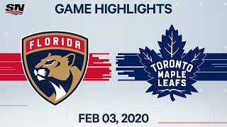 NHL Highlights | Florida Panthers vs. Toronto Maple Leafs - Feb. 3, 2020