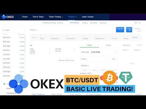OKEx BTC/USDT Basic Live Trading